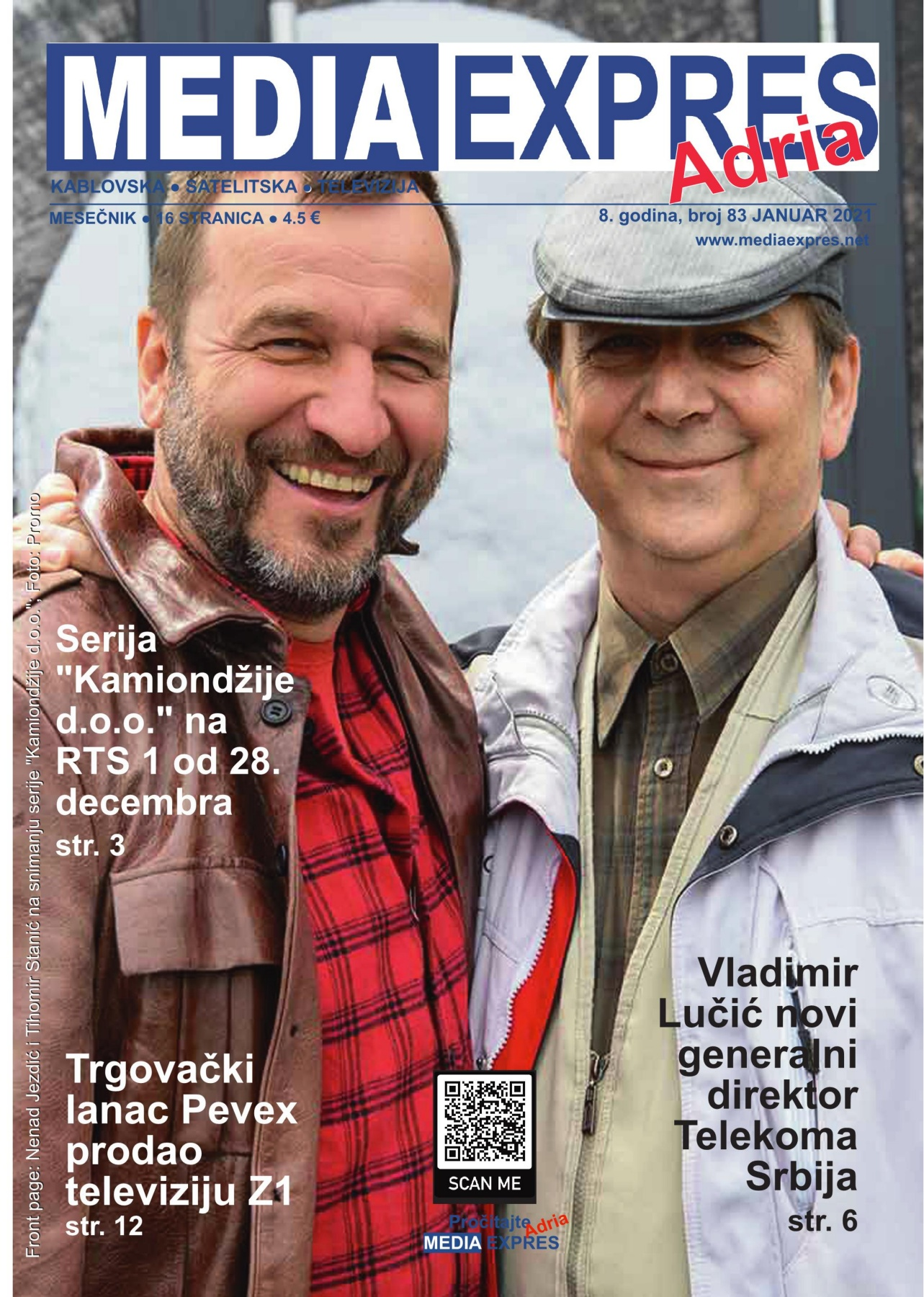 Media Expres Adria No. 1 JANUAR 2021 1st Cover